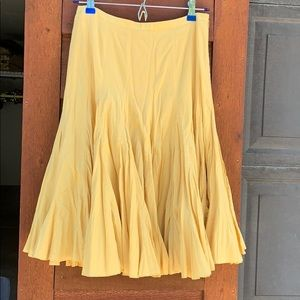 Odille soft yellow skirt